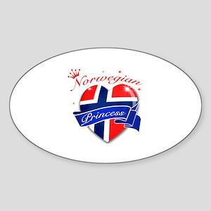 Norwegian Princess Sticker (Oval)