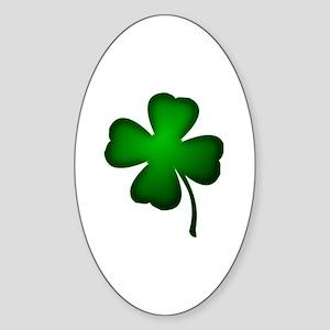 Four Leaf Clover Sticker (Oval)