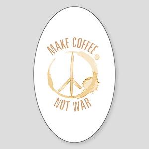 Make Coffee Oval Sticker