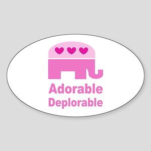 Adorable Deplorable Sticker (Oval)
