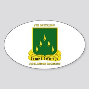 SSI - 4th Battalion, 70th Armor Rgt with Text Stic