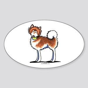 Alaskan Malamute Playtime Sticker (Oval)