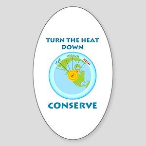 Earth's Heat Dial Oval Sticker