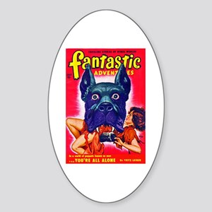 Fantastic Big Dog Cover Art Sticker (Oval)