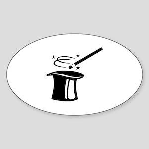 Magician top stick Sticker (Oval)