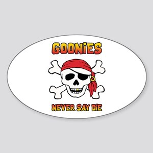 Goonies Funny Pirate Sticker (Oval)