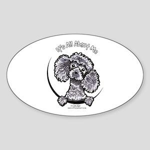 Gray Poodle IAAM Sticker (Oval)