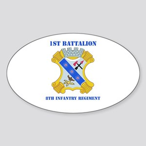 DUI - 1st Bn - 8th Infantry Regt with Text Sticker