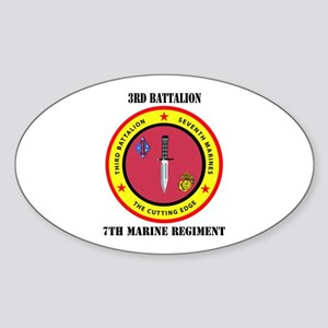 2nd Battalion 7th Marines Sticker (Oval)
