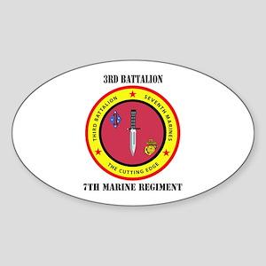 2nd Battalion 7th Marines Sticker (Oval)