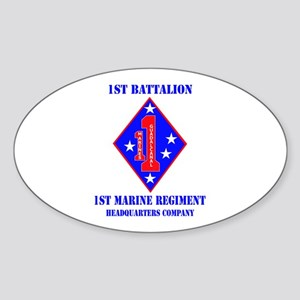 HQ Coy - 1st Marine Regiment with Text Sticker (Ov
