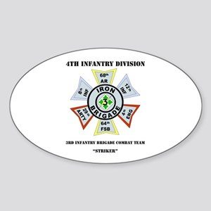DUI - 3rd Infantry BCT - Striker with Text Sticker