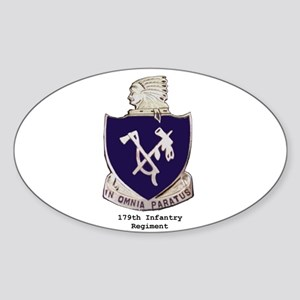 Oval Sticker w/ 179th Crest
