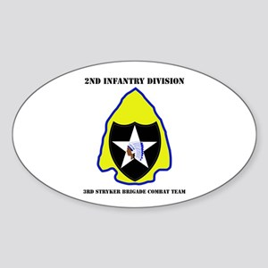 DUI - 3rd Stryker BCT with Text Sticker (Oval)