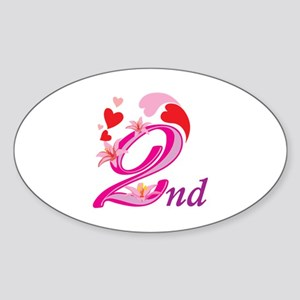 2nd Celebration Sticker (Oval)