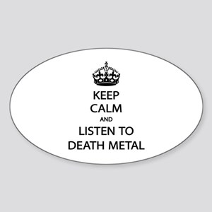 Keep Calm Listen to Death Metal Sticker