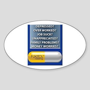 Fukitol Oval Sticker