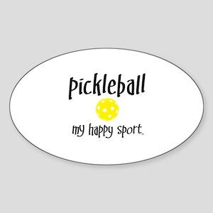 pickleball my happy sport Sticker