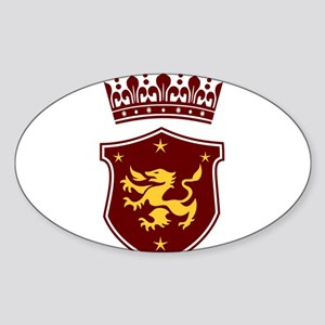 Shield and Crown Sticker