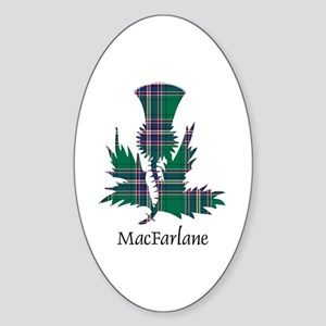 Thistle-MacFarlane hunting Sticker (Oval)