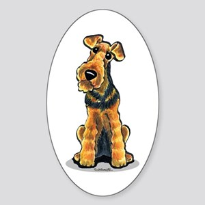 Airedale Welsh Terrier Sticker (Oval)