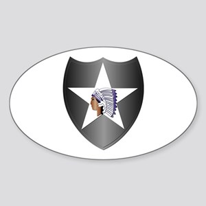 SSI - 2nd Infantry Division Sticker (Oval)