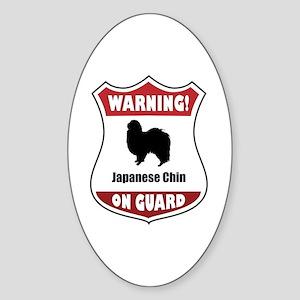 Chin On Guard Oval Sticker