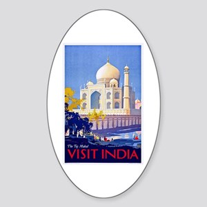 India Travel Poster 13 Sticker (Oval)