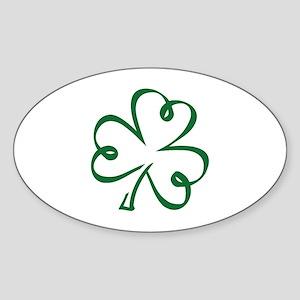 Shamrock clover Sticker (Oval)
