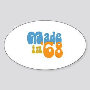 Made in 1968 (Retro) Oval Sticker