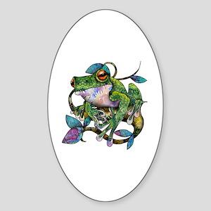 Wild Frog Sticker (Oval)
