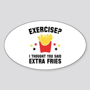 Exercise? Sticker (Oval)