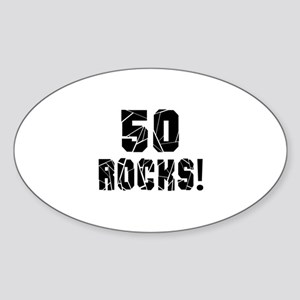 50 Rocks Birthday Designs Sticker (Oval)