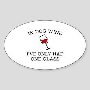 In Dog Wine Sticker (Oval)