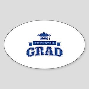 Congratulations Grad Sticker (Oval)