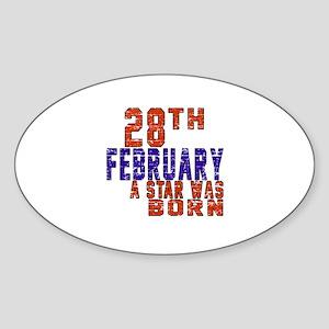28 February A Star Was Born Sticker (Oval)