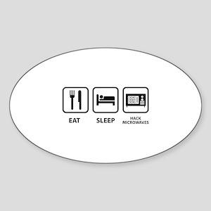 Hack Microwaves Sticker (Oval)