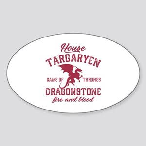 House Targaryen Sticker (Oval)