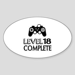 Level 18 Complete Birthday Designs Sticker (Oval)