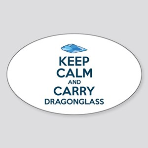 Keep Calm Dragonglass Sticker (Oval)