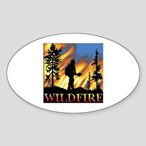 Wildfire Oval Sticker