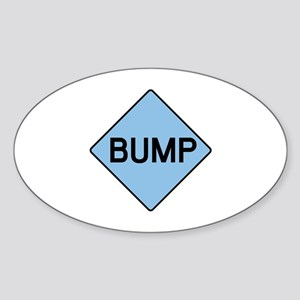 BABY BUMP (BLUE) Oval Sticker