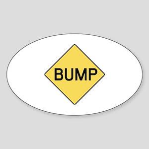 BABY BUMP (YELLOW) Oval Sticker