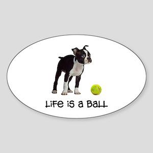 Boston Terrier Life Sticker (Oval)
