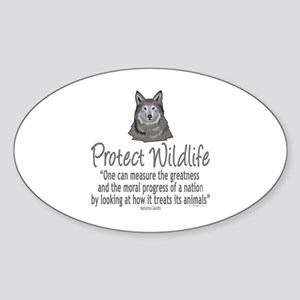 Protect Wolves Sticker (Oval)
