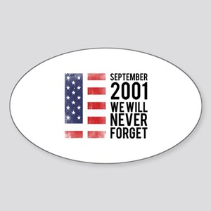 9 11 Remembering Sticker (Oval)