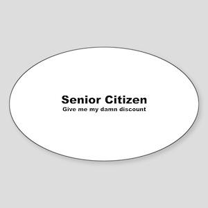 Senior Citizen Discount Sticker (Oval)