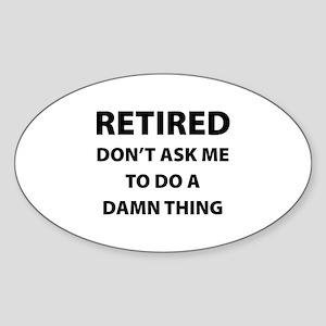 Retired Sticker (Oval)