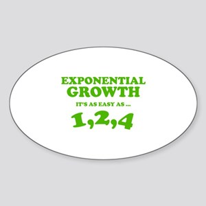 Exponential Growth Sticker (Oval)