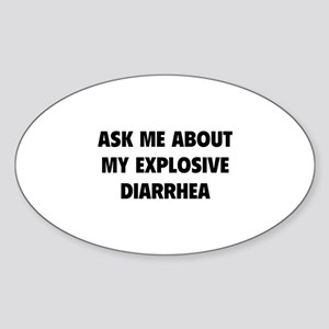 Ask me about Sticker (Oval)